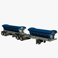 Midland TW2500 TW2000 b-train trailers