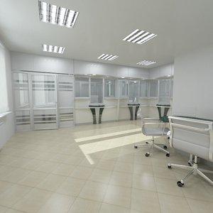 bank interior furniture 3d max
