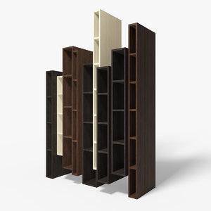 modern ceccotti skyline bookcase max