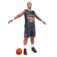 3d model basketball player