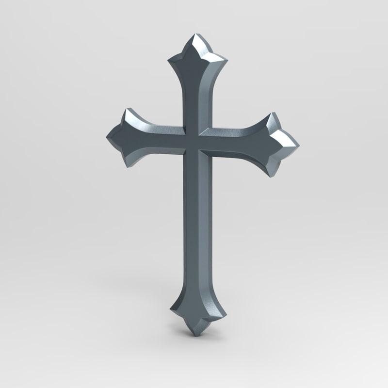 3d model cross symbol