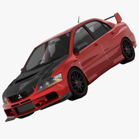 3d model mitsubishi lancer evolution ix