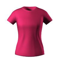 3d shirt girl model