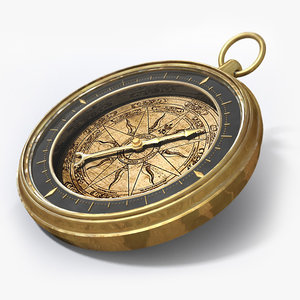 x vintage antique compass
