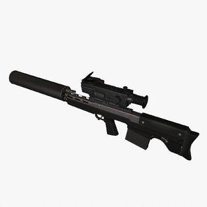 vyhlop sniper rifle 3d c4d