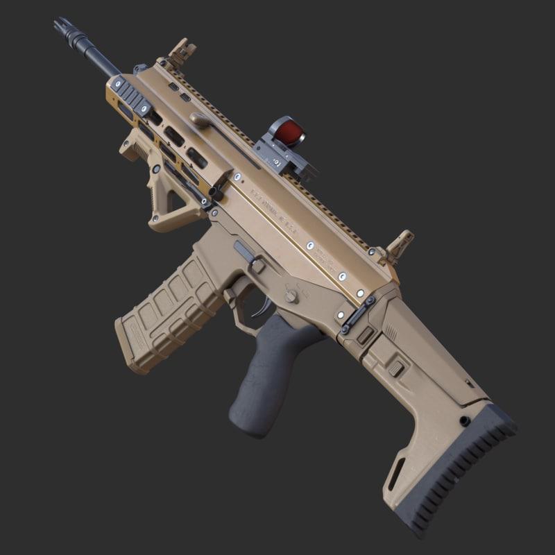 3d highpoly rifle acr model