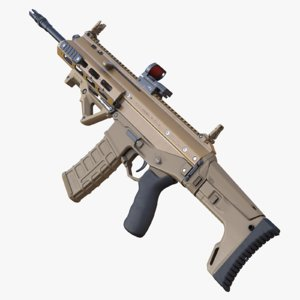 3d highpoly rifle acr model
