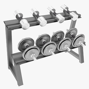dumbbell rack 3d model