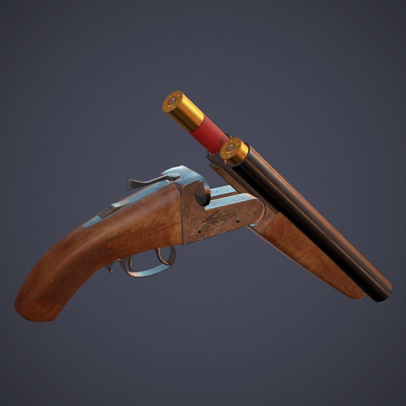 sawed-off shotgun x