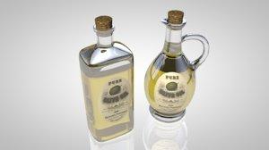 3d model of olive oil bottles