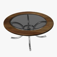 circular glass table 3d x