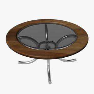circular glass table 3d x