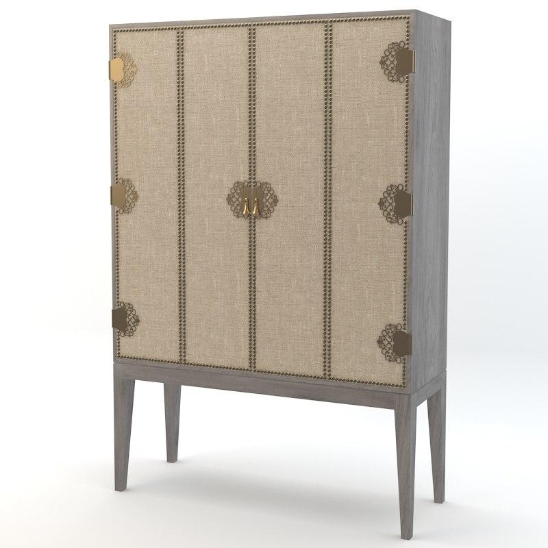 arteriors chelsey cabinet 3d model