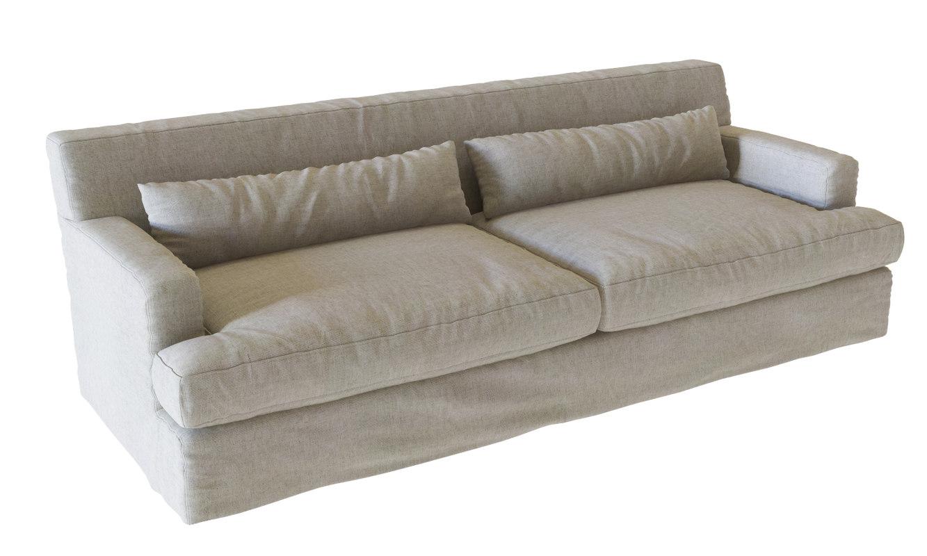 Meridiani 3d models and textures turbosquid max meridiani bogart slim sofa parisarafo Image collections