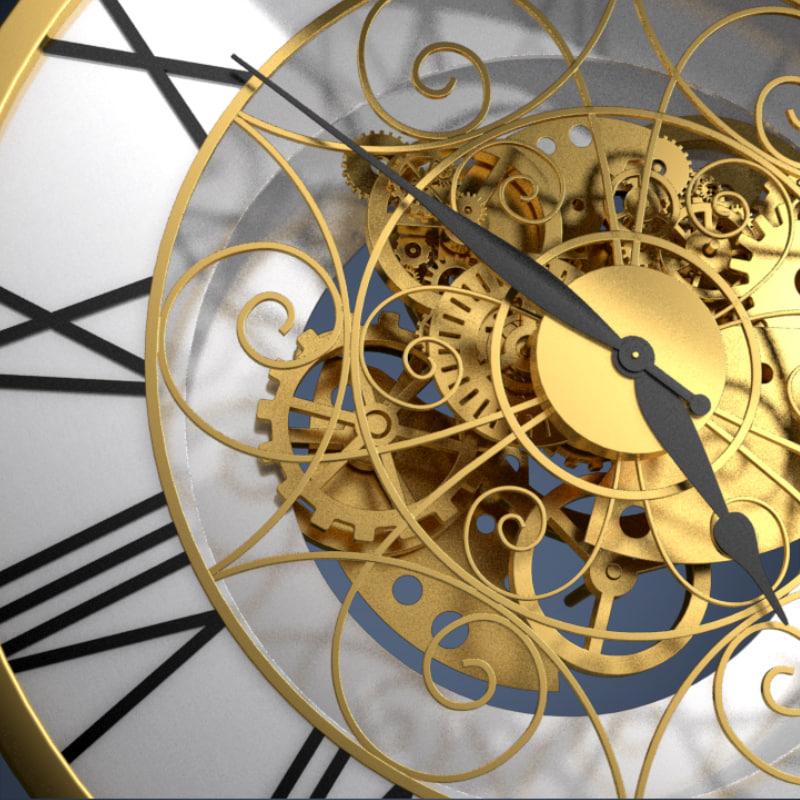 3d model clockwork gears