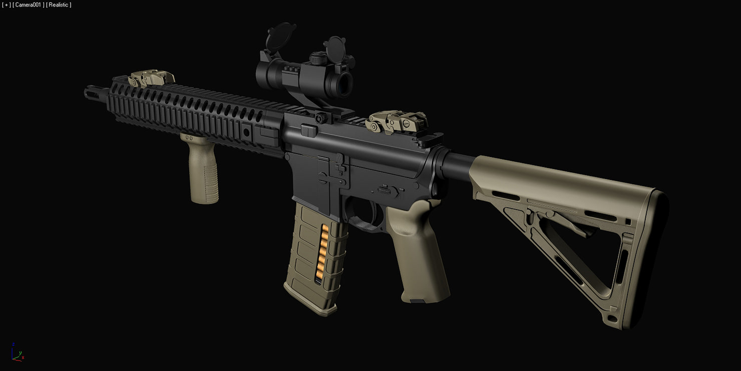 highpoly custom m4 rifle max