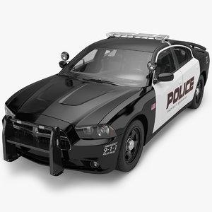 3d model dodge charger police