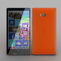 nokia lumia 930 orange 3d max