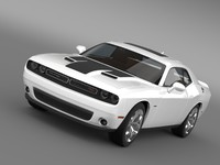 3d dodge challenger rt lc model