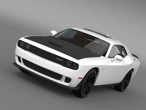 3d model dodge challenger srt hellcat