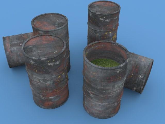 3d model barrel toxic waste