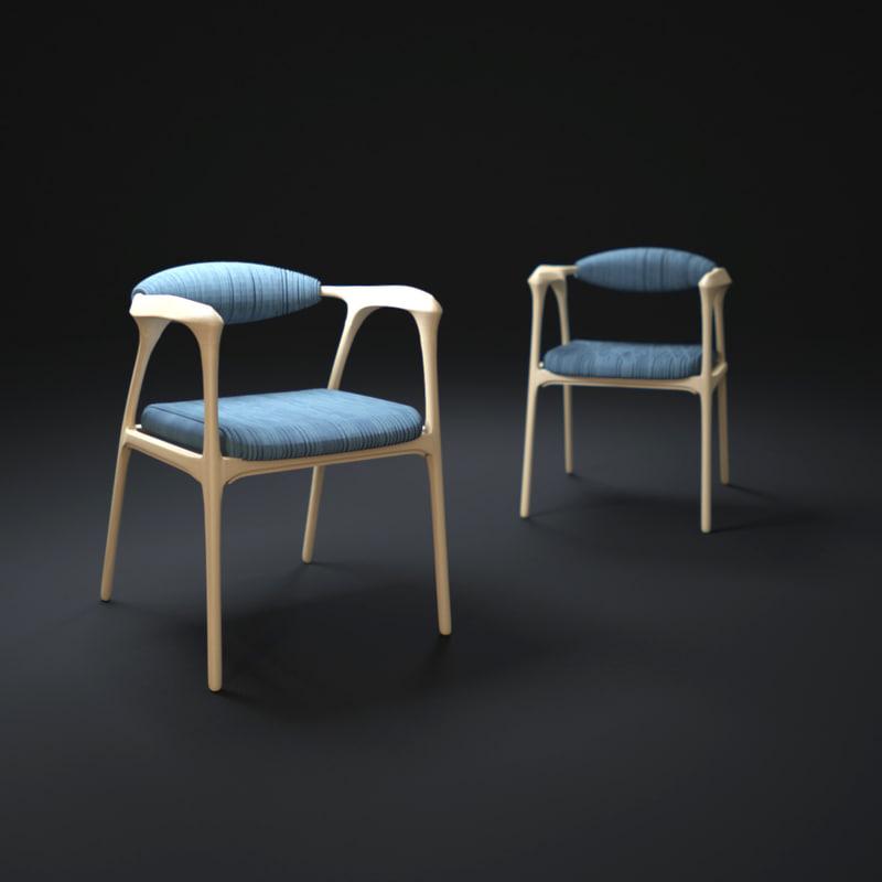 dezeen haptic-chair 3d model