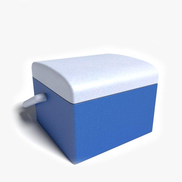 3d blue cooler model