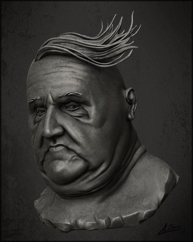 sculpture head 3d 3ds