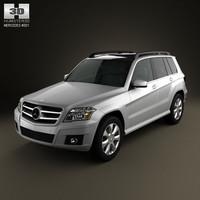 mercedes-benz glk 2010 luxury 3d model