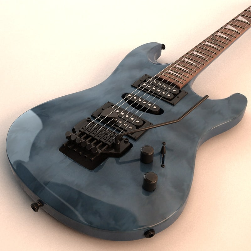 3d 6-string electric guitar