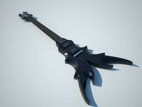3d electric guitar b c