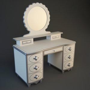 3d model table bonne nuit
