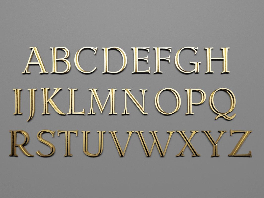 3ds max font letters