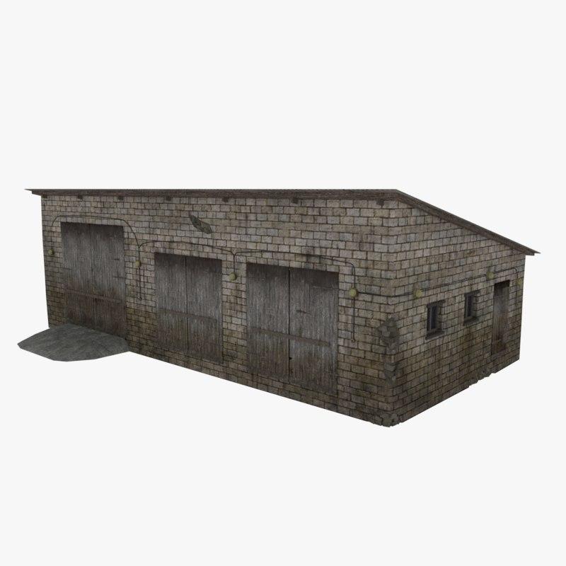 obj farm garage rural industrial building