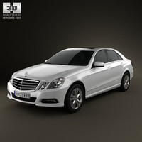 3d max mercedes-benz e500 2010 luxury