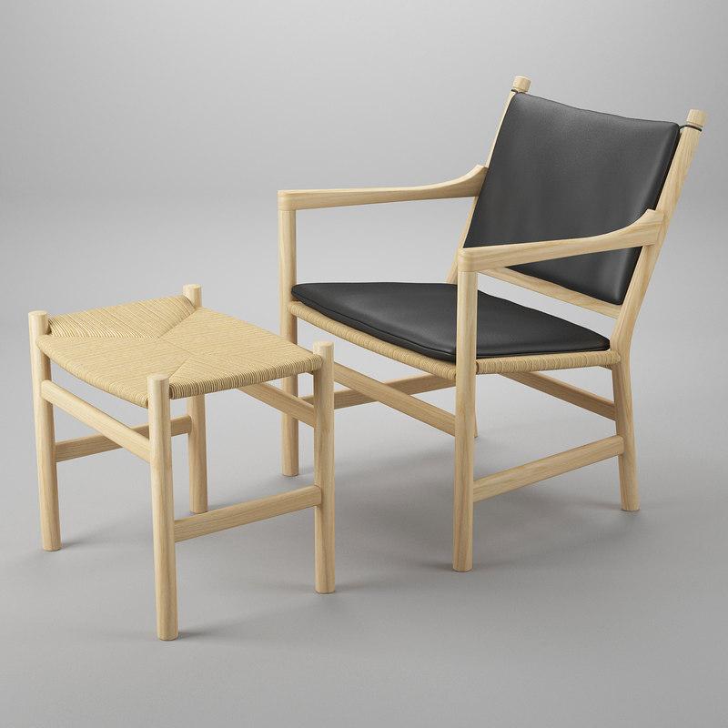 chair footrest 3d max