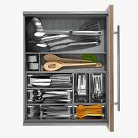 3ds max realistic drawer cutlery 2