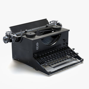 3d antique typewriter model