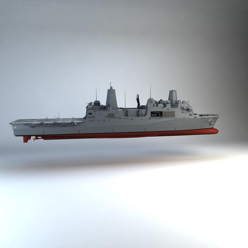 uss portland lpd-27 3d model