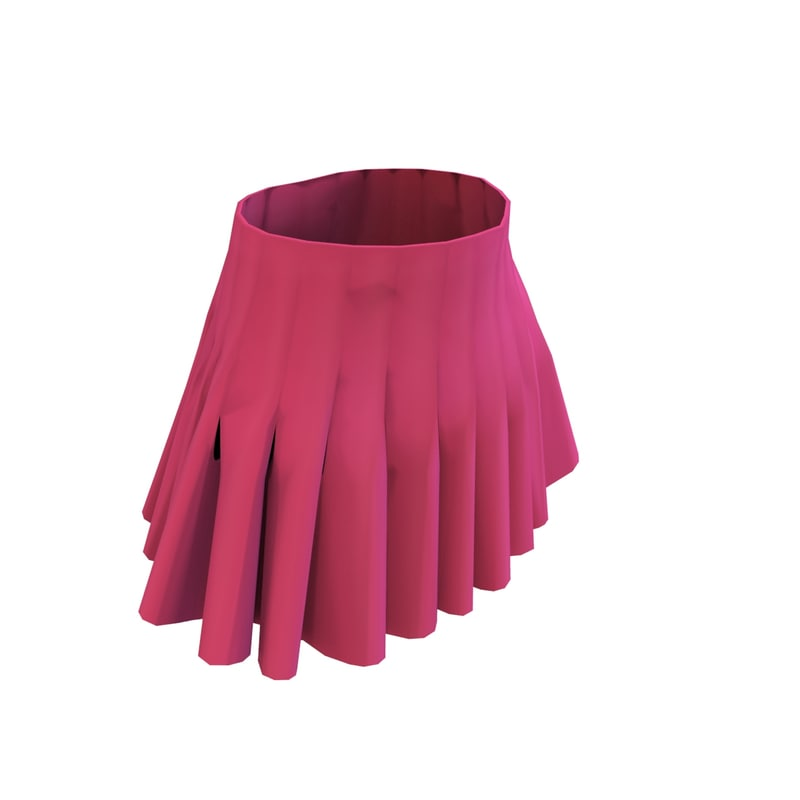3d model pleated skirt