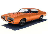 3d model 1969 pontiac gto car