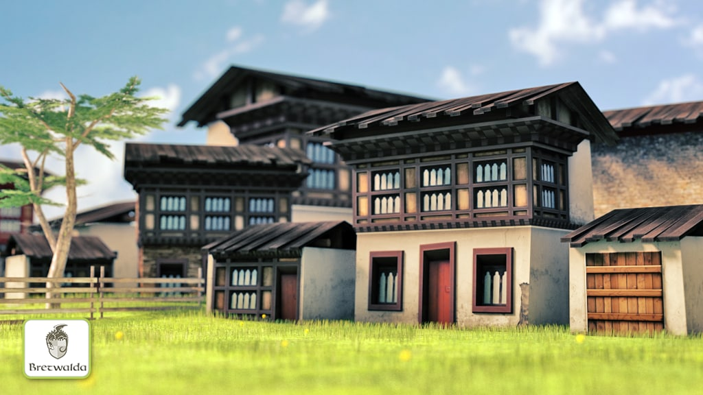 3d house bhutan