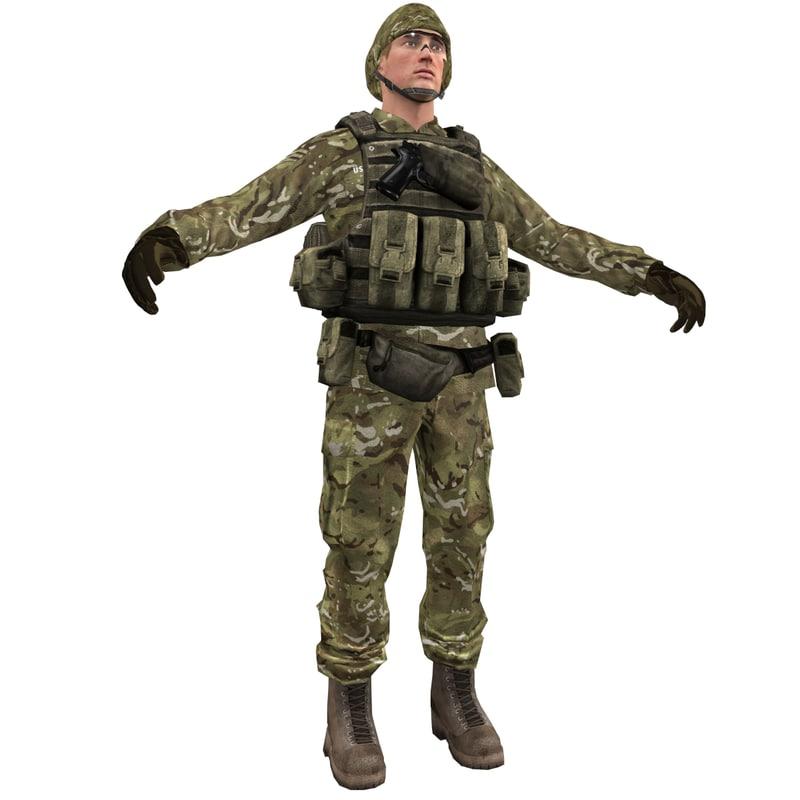 soldier 3d max