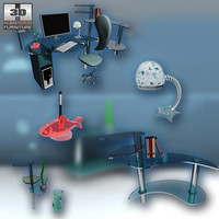3d office set 6