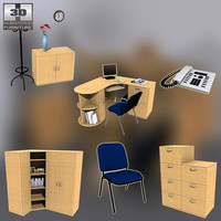 office set 7 3d 3ds