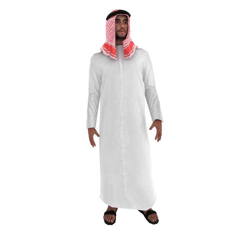 3d model rigged arab man