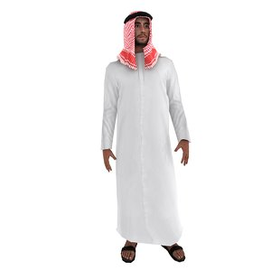 3d model rigged arab man
