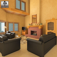 3ds max living set