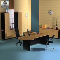 3d model office set 17