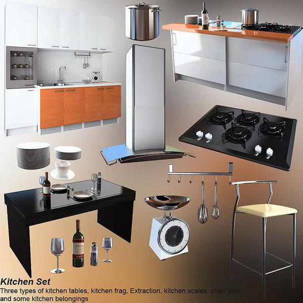 kitchen set 4 3ds